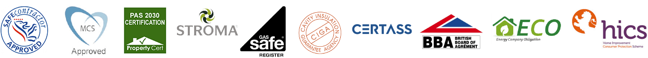 SH Heating Solutions Ltd accreditations