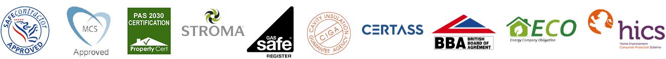 RW Heating accreditations