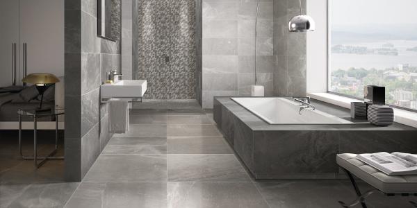 contemporary bathroom installation